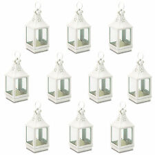 WHOLESALE LOT: 10 Small White Cutwork Wedding Decor Candle Lanterns NEW