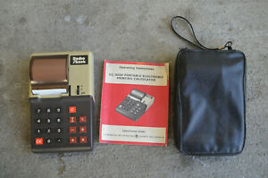 VINTAGE Radio Shack EC-3000 printing calculator 1977 nice w/book and StorePouch