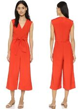 NWT Tibi Colette Tie Jumpsuit In Red