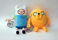 "Adventure Time With Finn and Jake - 12"" Plush Toys - Set of 2 - 1 Finn - 1 Jake"