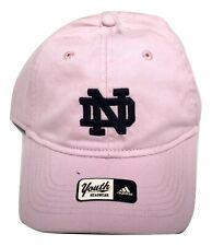 adidas Youth Girls Notre Dame Fighting Irish Strapback Hat Cap New