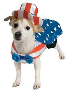 Uncle Sam Patriotic USA 4th of July Cute Dress Up Halloween Pet Dog Cat Costume