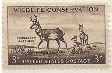 US 1078 Pronghorn Antelope, Wildlife Conservation 3c single MNH 1956