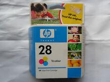 HP28 Cartouche d'encre HP d'origine neuf encore scellé dans emballage HP 28 Tri Colour