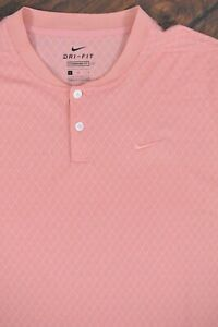 Nike Dri-Fit Vapor Textured Golf Blade Polo Shirt Pink Quartz Men's Large L