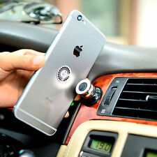 360 Rotating Cell Phone Magnetic Support Holder Stand Car Air Vent iPhone Mount