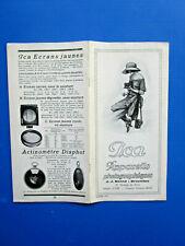 N° 9675 / catalogue ; ICA  appareils photographiques J.J.Benne  1925