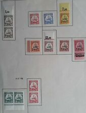 RARE 1901- German New Guinea lot of 13 Hohenzollern stamps Mint