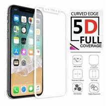 5D Full Coverage Tempered Glass Screen Protector For Apple iPhone X , 10 WHITE