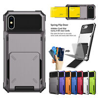 For iPhone SE 2020 2nd 11 Pro Max XS XR Case Cards Wallet shockproof Hard Cover