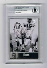 1997 Upper Deck Legends Jim Ringo Card.   AUTOGRAPHED *FREE SHIPPING*