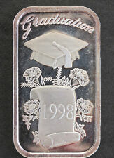 1998 Silver Towne Graduation Cap & Scroll Silver Art Bar P1634