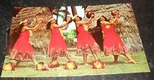 Vintage Postcard Kent Gihard's Hula Nani Girls in Pahu Skirts