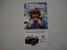 advertising Pubblicità 1982 MINOLTA XG-M e REINHOLD MESSNER