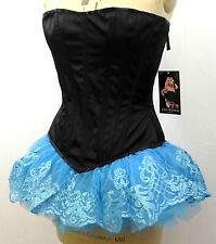 Blue Glitter Tutu Filigree Glitter Mini Skirt Petticoat Cinderella UK Seller