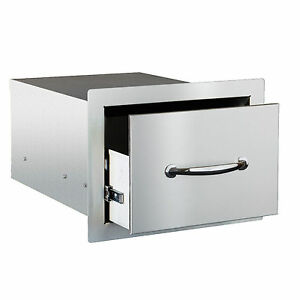 STG Excalibur Premier 14-in. Stainless Steel Single Drawer Model# STGDR-1