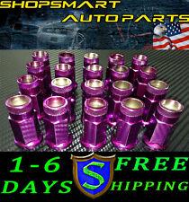 M12X1.25 PURPLE STEEL TUNER LUG NUT SET 20 PCS FOR  SUBARU INFINITI G35 350Z