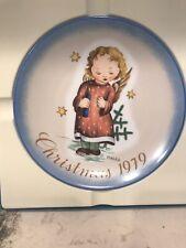 1979 Schmid Christmas Plate Sister Berta Hummel Starlight Angel in box