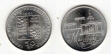 TSCHECHOSLOWAKEI   50 Korun 1991   Marienbad   Silber