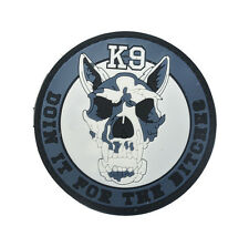 K-9 USA ARMY TACTICAL MILITARY MORALE   rubber HOOK PATCH  SH   672