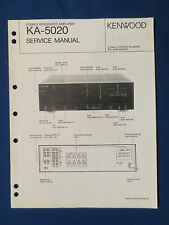 KENWOOD KA-5020 INTEGRATED AMPLIFIER SERVICE MANUAL ORIGINAL FACTORY ISSUE