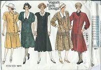 Vogue 1611 sewing pattern Maternity DRESS JUMPER BLOUSE sew Stylish sizes 6,8,10