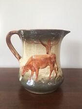 """Antique Roseville Pottery 7"""" GRAZING COW Stoneware PITCHER"""