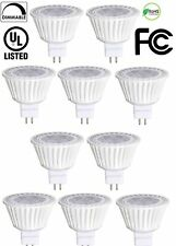 10 Pk Bioluz LED MR16 LED Bulb Dimmable 7 Watt 12V AC/DC 50W Halogen Replacement