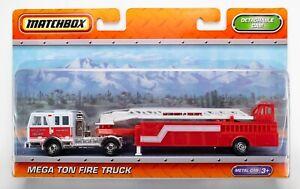2011 Matchbox Super Convoy Mega Ton Fire Truck RED / SAN LUIS OBISPO FIRE TRUCK