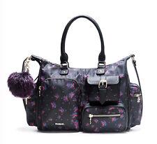 DESIGUAL Bols London Bloomstar Negro, Damentasche Handtasche Henkeltasche