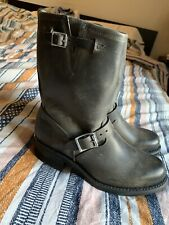 Frye Engineer 12R Charcoal Gray Boots Size 9.5