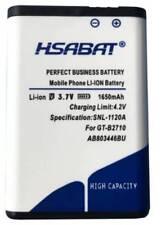 HSABAT 1650mAh AB803446BU High Quality Battery For Samsung GT-B2710 B2710 Solid