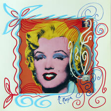 "MARIA MURGIA ""Andy Warhol"" CM 30X30 pezzo unico dipinto su cartoncino"