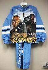NEW STAR WARS CHEWBACCA WOOKIE BOYS JACKET & PANTS TRACKSUIT SIZE XS 4/5