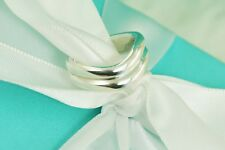 AUTHENTIC Tiffany & Co. Sterling Silver Double Wave Ring Size 5 (#1165)