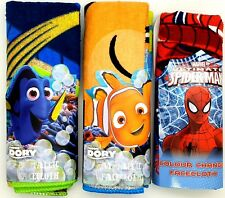 Pack of Disney Pixar DORY NEMO Spider-Man Colour Change Flannel / Face Cloth