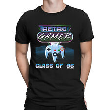 Retro Gamer Mens ORGANIC Cotton T-Shirt NINTENDO N64 Class of 96 Console Gaming