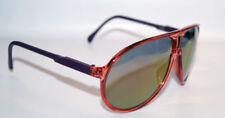 Occhiali da sole da uomo specchio con montatura in rosso 100% UVA & UVB
