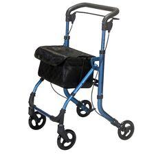 Drift lightweight folding walker indoor rollator walking frame - tray & bag DEMO