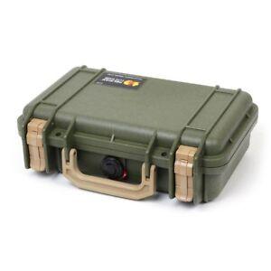 Pelican 1170 OD Green & Tan case with foam.