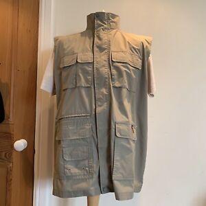 Mountain Life Mens Gilet Green Pockets Sleeveless Jacket Size XXL Safari Outdoor