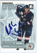 Niklas KRONWALL Signed 2005/06 Heroes and Prospects Shooting Stars Card