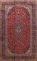 Vintage Traditional Floral Area Rug Wool Hand-knotted Oriental Carpet 11x14 RED