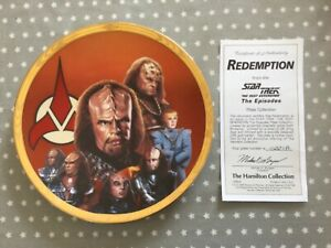 Star Trek Redemption Hamilton Collection Plate with COA