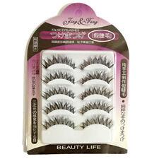 HOT 5 Pairs Crisscross Natural Long Fake Eyelashes Beauty Makeup Thick EyeLashes
