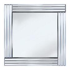 Square Triple Bar Frame Mirror Modern Home Decoration Silver Litecraft