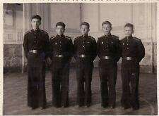 1951 Handsome young teen boys jock men Cadet school parade uniform Russian photo