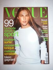 Magazine mode fashion VOGUE PARIS #794 février 1999 la mode venue du sport