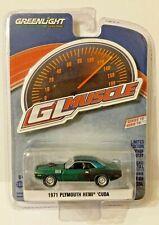 GREENLIGHT GLMUSCLE Series 18 1971 Plymouth Hemi Cuda GREEN MACHINE