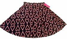 Xhilaration Christmas Candy Cane Heart SKIRT Black Velour Size Small